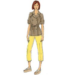 New from Lisette for Butterick: Sewing pattern includes chic trench jacket and tapered pants. B6331.