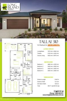 Long Island Homes 2018 Floor Plan of the Tallai 310 Display as featured at Armstrong estate in Mount Duneed, Victoria Australia