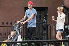 Heath Ledger, Matilda Ledger and Michelle Williams