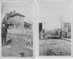 Harrison Place; Loudon, TN (right)  Route through town (Steekee St.) prior to road paving in 1929.