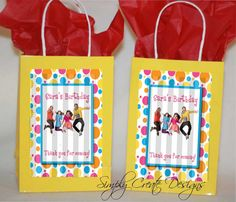 Fresh Beat Band Personalized Gift Bag Printable   DIY by SimplyCreateDesigns, $5.75