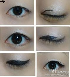 Monolid eyeliner - My most beautiful makeup list Monolid Eyeliner, Dramatic Eyeliner, Winged Eyeliner, Eye Makeup Glitter, Beauty Makeup, Hair Makeup, Prom Makeup, Korean Beauty Tips, Asian Beauty