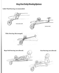 Types of steering for soap box derby cars