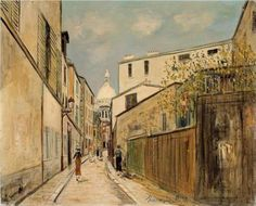 utrillo paintings | Church of Sacre-Coeur - Maurice Utrillo - WikiPaintings.org