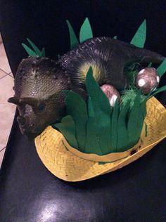 Dinosaur nest Easter bonnet
