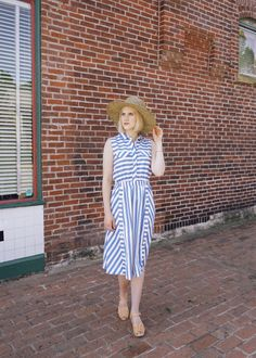 Blue and White Stripes and What to Wear to Brunch