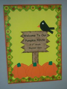 This is our door decoration for the fall months.    Sunday School, Bible Class, Door Decoration, Fall Theme
