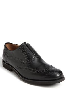 Complete the look with these easy to wear Florsheim 'No String' Wingtip Oxfords #wedding