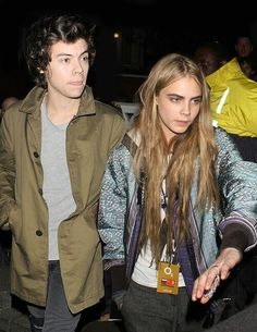 Cara Delevingne and Harry Styles. I ship Carry :) x