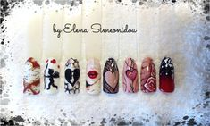 Valentine nails - salon designs 1/4