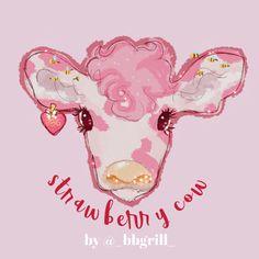 Art Drawings Sketches, Animal Drawings, Cute Drawings, Arte Indie, Indie Art, Cow Wallpaper, Cow Drawing, Arte Sketchbook, Cow Art