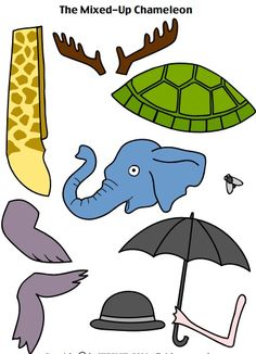 The Mixed Up Chameleon printables                                                                                                                                                     More