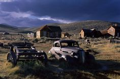 Late afternoon light in the ghost town of Bodie, California