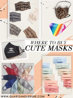 Where to Buy Cute Masks / breathable masks / adjustable masks / designer masks / handmade masks / silk masks