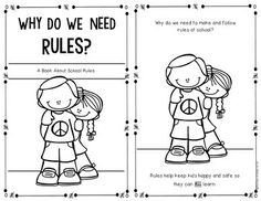 Reader for Kindergarten and First Grade Students about why rules are needed. Use as a lead to a discussion about what kind of classroom and school they want to be a part of this year. Beginning Of The School Year, New School Year, School School, School Stuff, School Ideas, First Grade Classroom, Classroom Fun, Classroom Behavior, School Rules Activities
