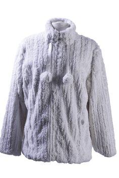 veste fourrure femme apache blanc