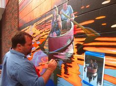 """Blown Away"" mural by Paul Jackson - Paul Jackson Watercolors Paul Jackson, Art Techniques, Watercolors, Watercolor Art, Tutorials, Artists, Studio, Google Search, Top"