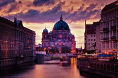 Looking down the Spree to the Dom. Heavenly.