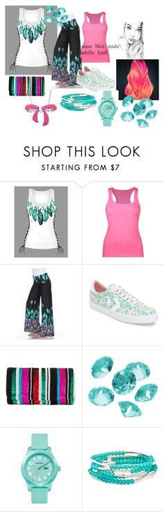 """""""pattern"""" by lillyaminahsmommy ❤ liked on Polyvore featuring White Mark, Converse, Santi, Blue La Rue, Lacoste, Chrysalis and Amanda Rose Collection"""