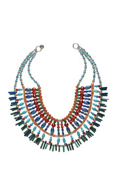 Jewelry Design - Bib-Style Necklace with Gemstone Beads and Silver Beads - Fire Mountain Gems and Beads