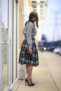 lady like skirt for fall!
