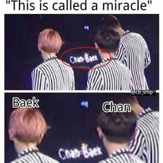 Yo I couldn't, I can't breathe man. Oof, my chanbaek heart. Exo Chanbaek, Kyungsoo, Exo Ships, Namjin, Exo Memes, Funny Memes, Jokes, Yoonmin, Taekook