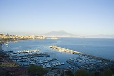 View of Naples and Mt Vesuvius.