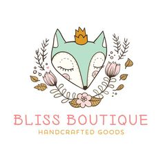 Premade Logo - Fox & Florals Premade Logo Design - Customized with Your Business Name!