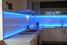 LED Backlit Glass Kitchen Splashback Idea - from The Best Kitchen Splashback Ideas. #MyKitchenAccessories http://mykitchenaccessories.co.uk/best-kitchen-splashback-ideas/