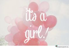 Abstract it's a girl graphic design with pink balloons - free pic download