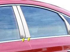 QAA PART PP15360 fits SONATA 2015-2018 HYUNDAI (4 Pc: Stainless Steel Pillar Post Trim Kit, 4-door) PP15360