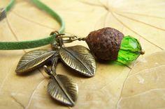 Ketten lang - ElfenHut *grünzauber* Kette mit Anhänger - ein Designerstück von Die-kleine-Wunderkiste bei DaWanda