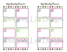 Update Printable Day Planner   Mini Binder Sheets   My