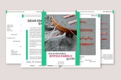 the embroidery stitch family guide by Pumora