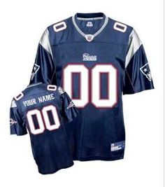 Buy Customized New England Patriots Jersey Dark Blue With Team Anniversary  Patch from Reliable Customized New England Patriots Jersey Dark Blue With  Team ... 982d3ea87