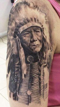Tattoo Artist - Aron Szabo | www.worldtattoogallery.com/indians_tattoo