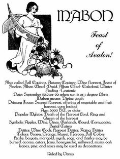 Mabon – Feast of Avalon Mabon, Samhain, Wiccan Spells, Magick, Wiccan Sabbats, Autumnal Equinox, Autumn Harvest, Eclectic Witch, The Embrace