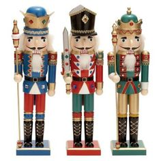 Check out this item at One Kings Lane! Nutcrackers, Asst. of 3