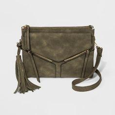 15 Violet Ray Leanna Triple Entry Tassel Crossbody Bag - Olive Heather    Target Crossbody Bag 689d6bbfcccf7