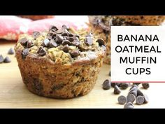 Banana Oatmeal Muffins are flourless, gluten free, dairy free, and made with oats and banana. Banana Oatmeal Muffin Cups are tasty and so easy to make. Banana Oatmeal Muffins, Oatmeal Cups, Baked Banana, Banana Oats, Oatmeal Cupcakes, Apple Oatmeal, Pumpkin Oatmeal, Mini Muffins, Breakfast Desayunos