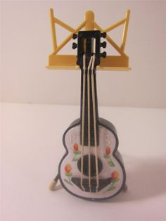 Salt Pepper S&p Shaker Set 2 Guitar Music Stand 1950's Plastic Novelty Excellent