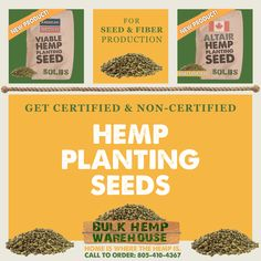 Get Your Hemp Planting Seeds in Bulk for Seed and Fiber Production! Certified & Non-Certified Seeds available for propagation. Call to Order: 805-410-4367 #industrialhemp #hemp #hempseeds #hempfarming #farmhemp #hempfarmers Farm H, Hemp Seeds, Propagation, Planting Seeds, Warehouse, Fiber, Plants, Low Fiber Foods, Seed Starting
