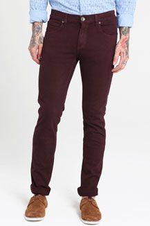 Dr. Denim Deep Plum Snap Jeans
