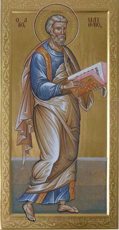 Holy Apostle Matthew the Evangelist / Matteo evangelista Byzantine Icons, Byzantine Art, St Mathew, Roman Church, Vampire Stories, Russian Icons, Orthodox Christianity, Soul Art, Art Icon