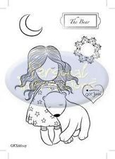 Gorjuss Girl THE BEAR Clear Stamp Set - Spend $25 for Shipping Breaks (FREE US)