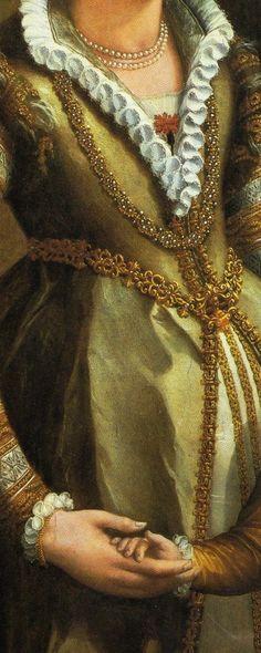 Alessandro di Cristofano di Lorenzo del Bronzino Allori (Florence, 1535 - Florence, 1607) Portrait of a Noblewoman and her Son