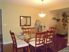 Living and Dining Rooms are open to each other, the kitchen and the family room