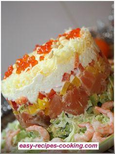Cake of salmon.