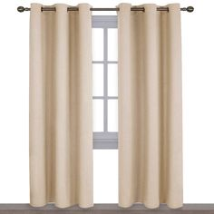NICETOWN Thermal Insulated Eyelet Top Room Darkening Panels/Curtains/Drapes for Bedroom Panels, x inches, Biscotti Beige) Cream Curtains, Yellow Curtains, Velvet Curtains, Curtains With Blinds, Window Curtains, Bedroom Curtains, Insulated Curtains, Thermal Curtains, Grommet Curtains