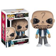 From Suicide Squad, El Diablo, as a stylized POP vinyl from Funko! Stylized collectable stands 3 inches tall, Perfect for any Suicide Squad fan! Collect and display all Suicide Squad Pop! Pop Vinyl Figures, Model Box, Johnlock, Destiel, Suicide Squad, Funko Pop Dolls, Funko Toys, Asgard, Pop Figurine